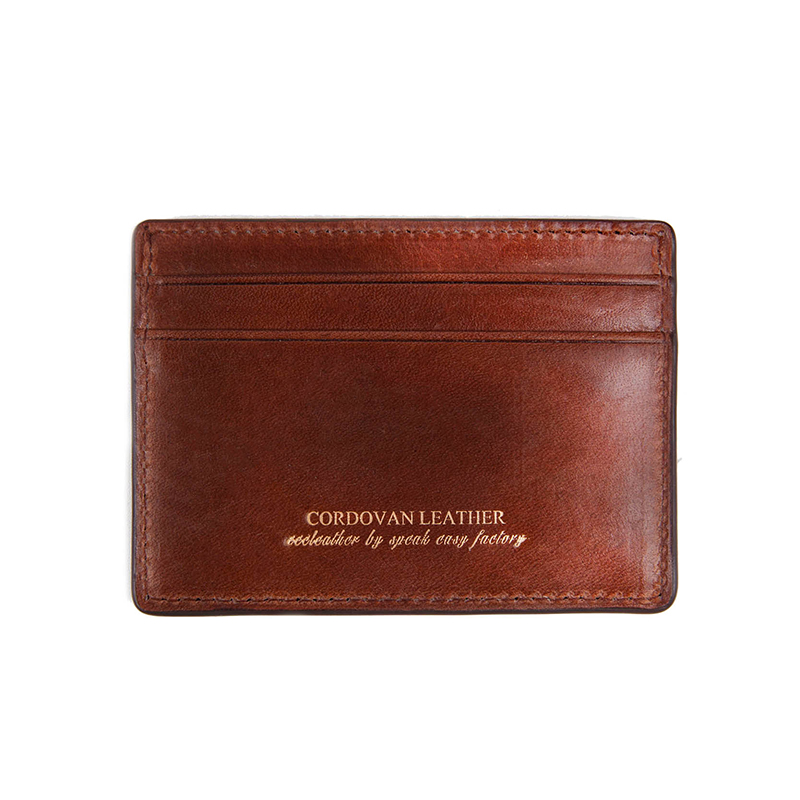 211#X CARD WALLET- RIGID CORDOVAN