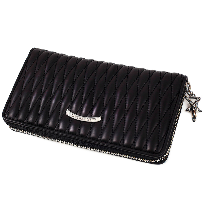 Goathead Zip-around Wallet (Diamond Stitch)