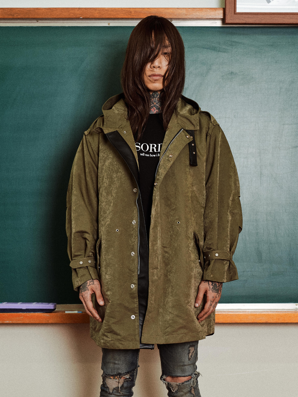 Hoodied Fishtail Parka
